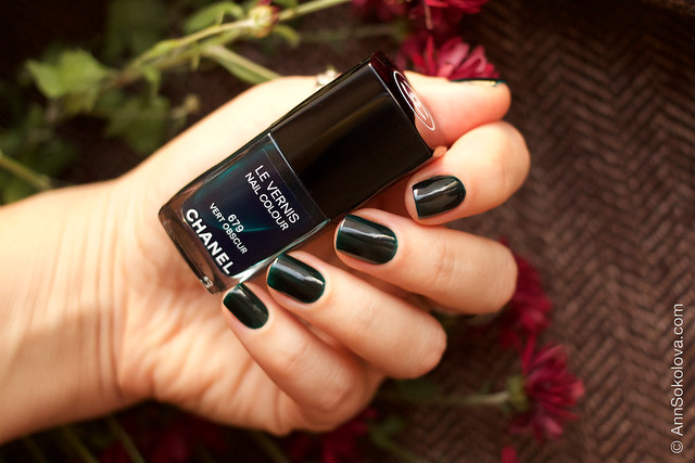 08 Chanel #679 Vert Obscur 2 coats swatches by Ann Sokolova