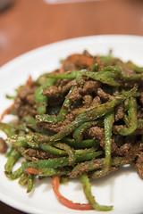 牛肉のズーラン炒め, 唐朝刀削麺 成田空港店