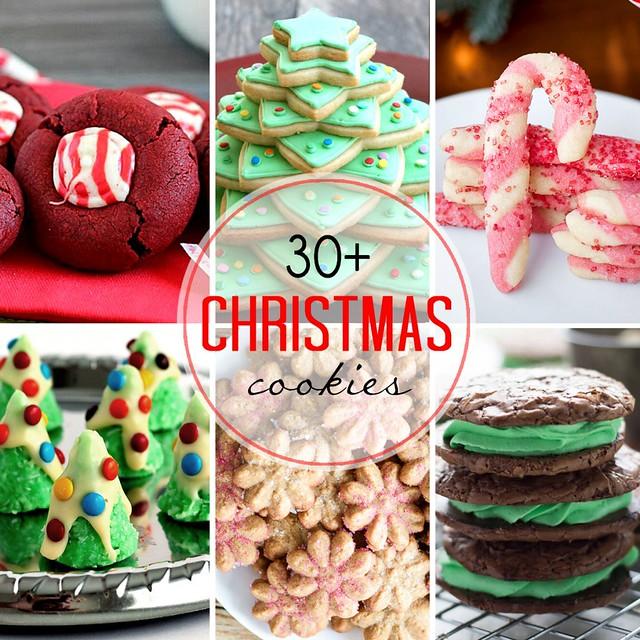 30+ Christmas Cookie collage.