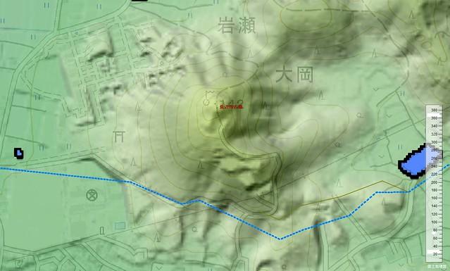 長辺寺古墳と連絡路