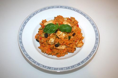 56 - Couscous with vegetable & chicken - Served / Couscous mit Gemüse & Hähnchen - Serviert