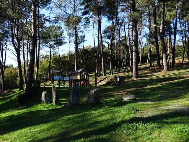 Parque en el Área recreativa de Os Sete Muíños en Guitiriz