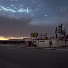 liquor sunset. mojave, ca. 2014.