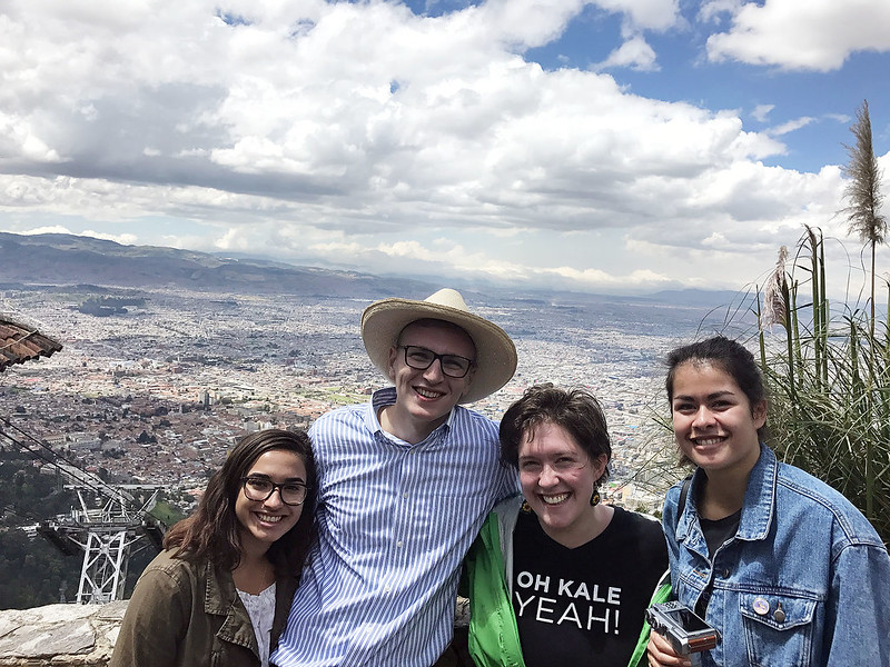 Students in Colombia for the Nobel Laureate Summit