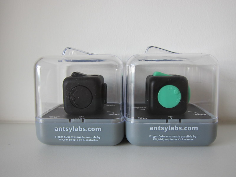 Fidget Cube - Green/Black and Midnight Black - Box Back