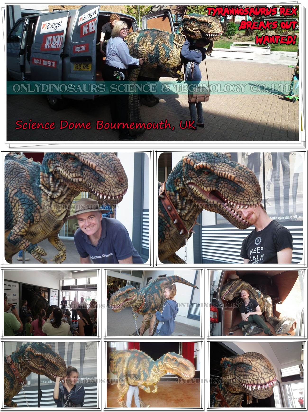 Walking T-Rex in Bournemouth