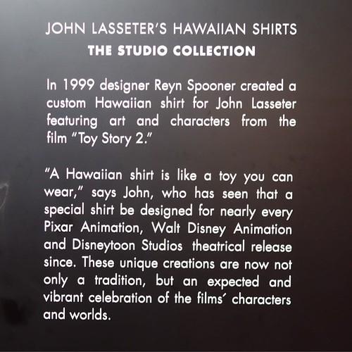 以上、ラセターさんのアロハシャツコレクションでした。