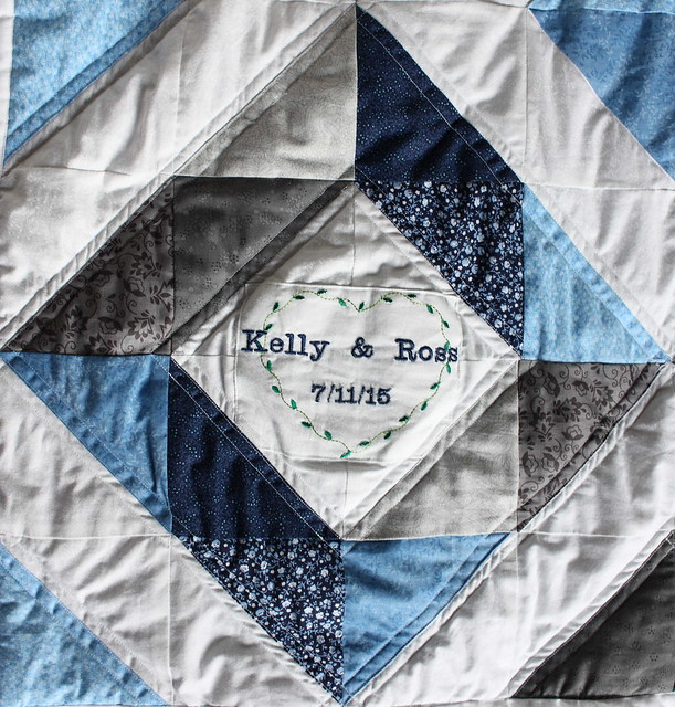 Kelly&Ross Wedding Quilt