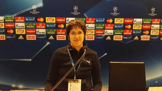 Meine Pressekonferenz vor Rapid - Schachtar Donezk ;-)