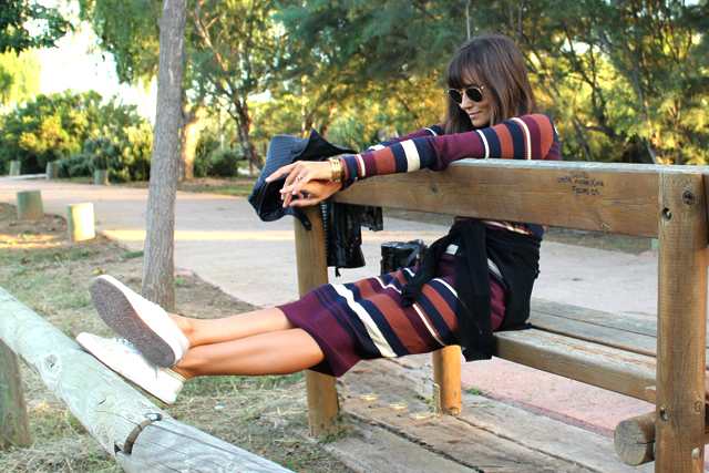 stripes dress coohuco 2