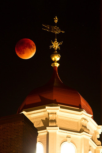 Super Lunar Eclipse over Dunster House, Harvard