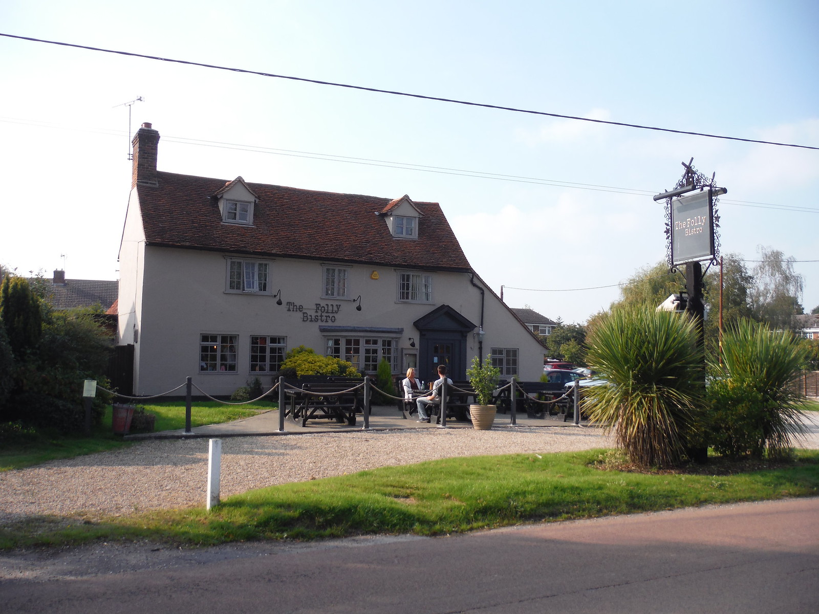 The Folly Bistro, East Hanningfield SWC Walk 159 South Woodham Ferrers to North Fambridge