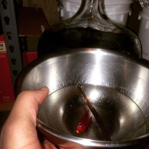 Chili pepper and vanilla bean have a date with Flaming Hessian #homebrewing