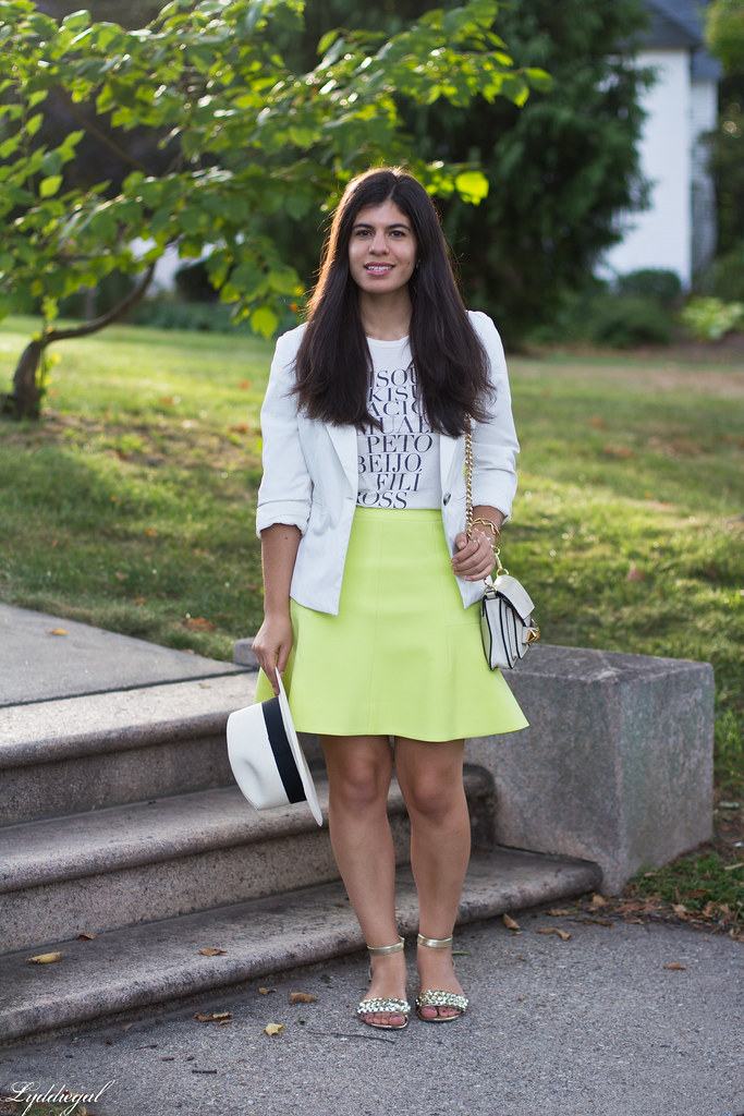 green skirt, kiss tee, white blazer, panama hat-1.jpg