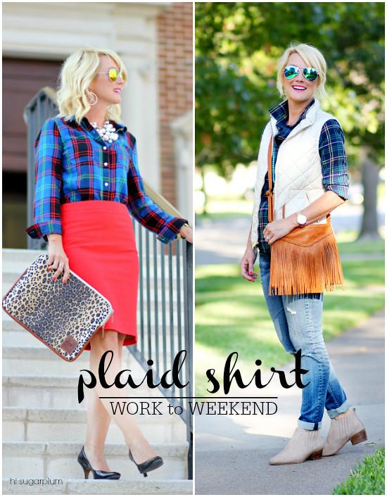 Hi Sugarplum | Plaid Shirt / Work to Weekend