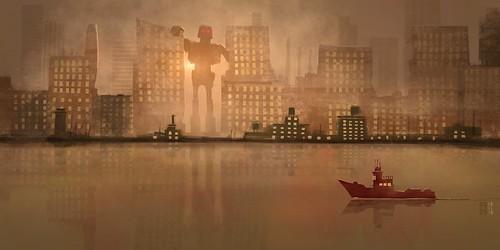 Robot in the City #ipadpro #procreateapp