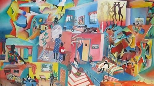 Jean Losier painting
