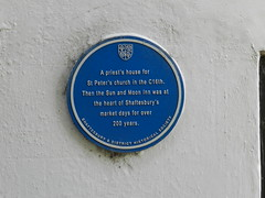 Photo of Sun and Moon Inn, Shaftesbury blue plaque