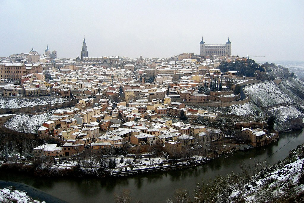 de cuando alguna vez cayó nieve sobre Toledo