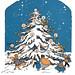 Community Christmas tree by katinthecupboard