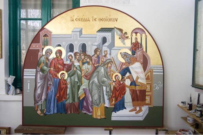intrarea in Biserica a Preasfintei Nascatoarei de Dumnezeu