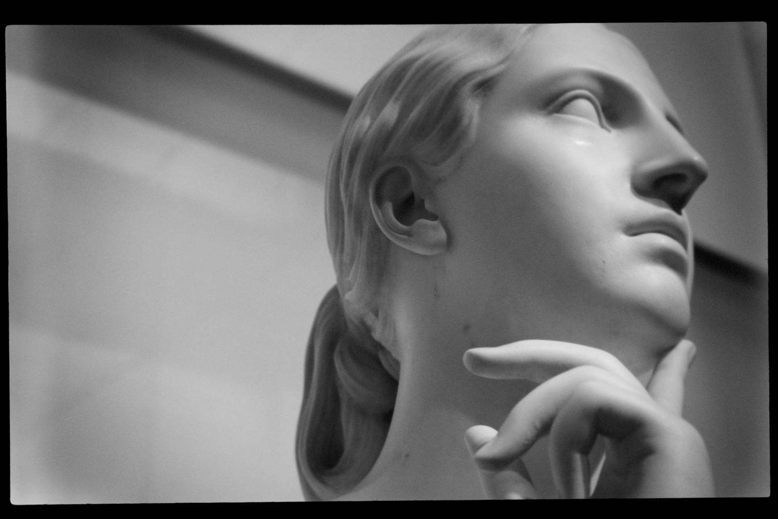 """Portrait of Hiram Powers' """"La Penserosa"""". High Museum. Sept 2015."""