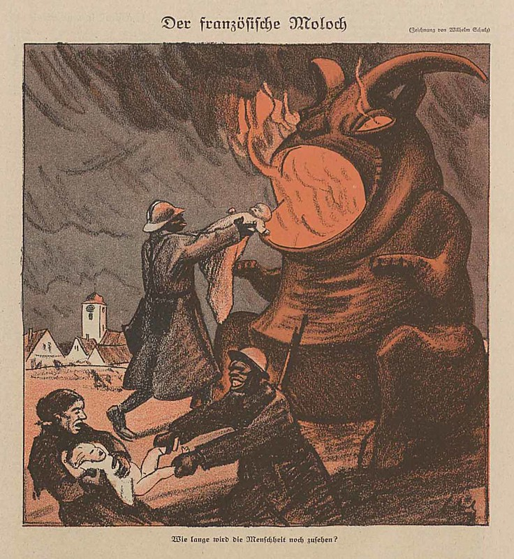 Wilhelm Schulz - The French Moloch, 1921