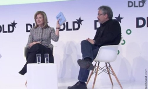 "DLD17 session ""Rest!!!"" with Arianna Huffington"