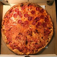 Gino's Half-Pepperoni Pizza Pie; Great Neck, New York