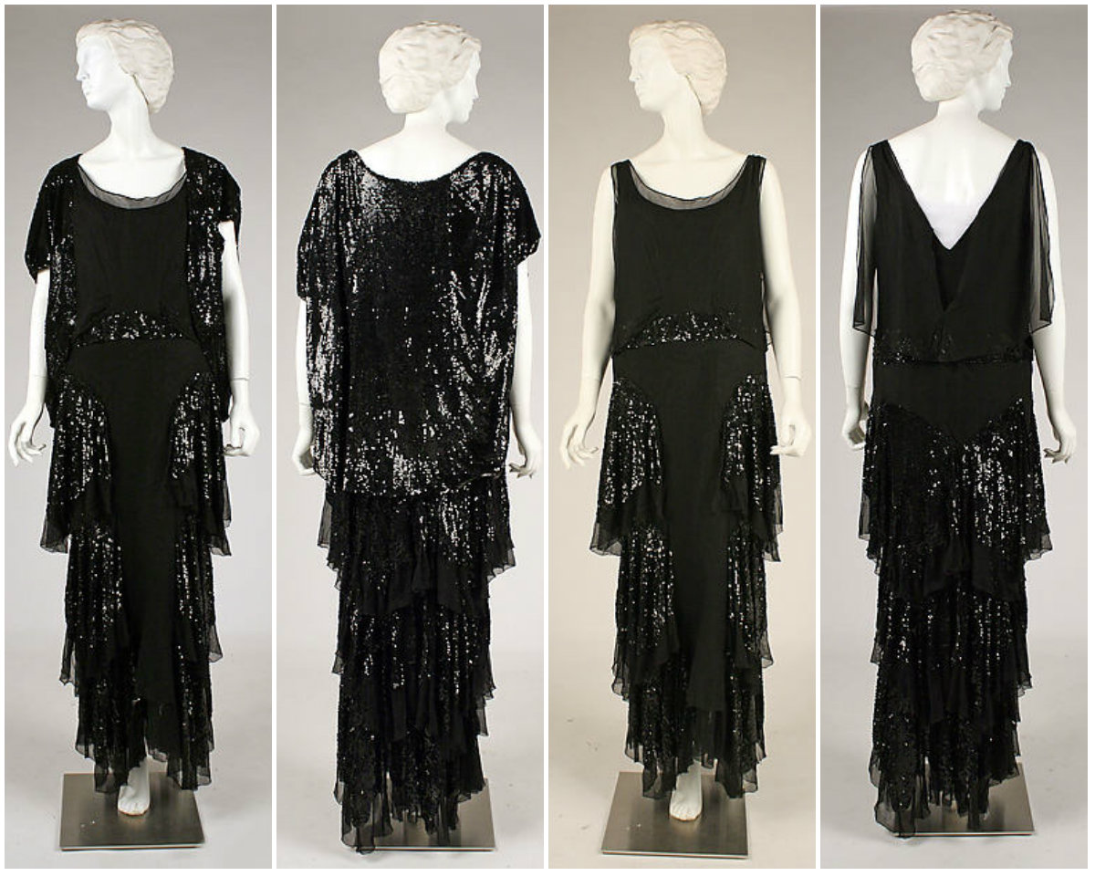 1930s Evening ensemble. Silk, plastic. metmuseum