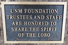 University of New Mexico Lobos Marker (Albuquerque, New Mexico)
