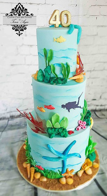 Under the Sea Themed Cake from Custom Cakes and Pastries by Tina Ayer