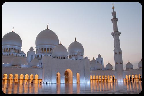 nikon d80 uae emiratiarabiuniti asia oriente mediooriente middleeast abudhabi mosque great grande moschea sceicco zayed tramonto sunset sheikh