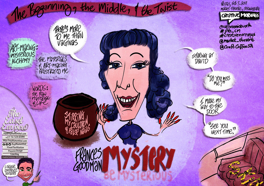 #CreativeMornings #jhb_cm — 2017 — Frances Goodman MYSTERY