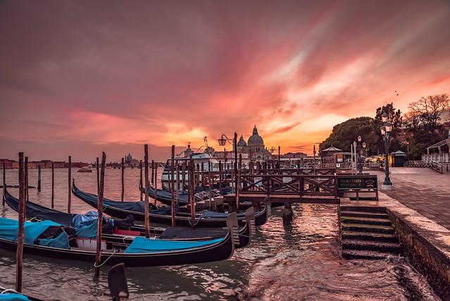 Winter sunset in Venice