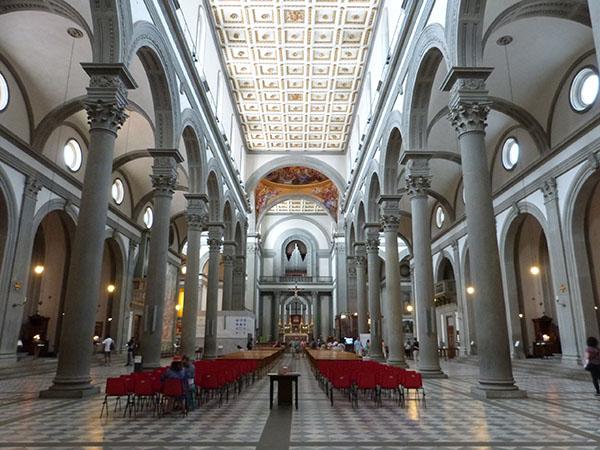 la basilique san Lorenzo à Florence