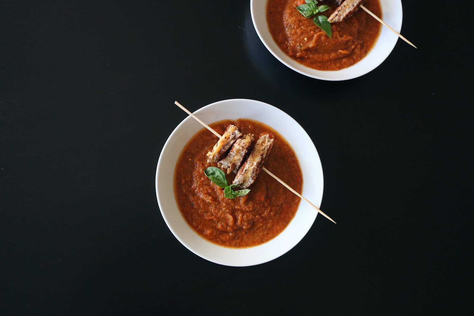 tomato soup & grilled cheese skewer 1