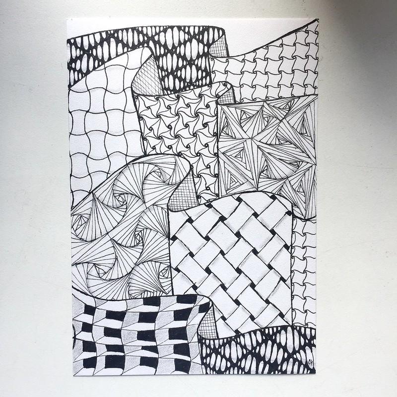 Рисунки зентангла и дудлинга