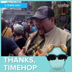 Three years ago I was rocking #StarTours. Like a #Fett.