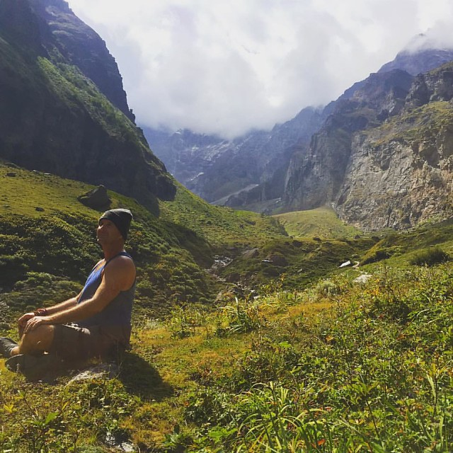 Yogi Aaron is taking in some bliss in the Valley of Flowers. This #BlueOsaJourneys has captured the hearts of wandering yogis.  Join Aaron on another journey to India, France, Cambodia or to Ancient Greece. The world awaits you.