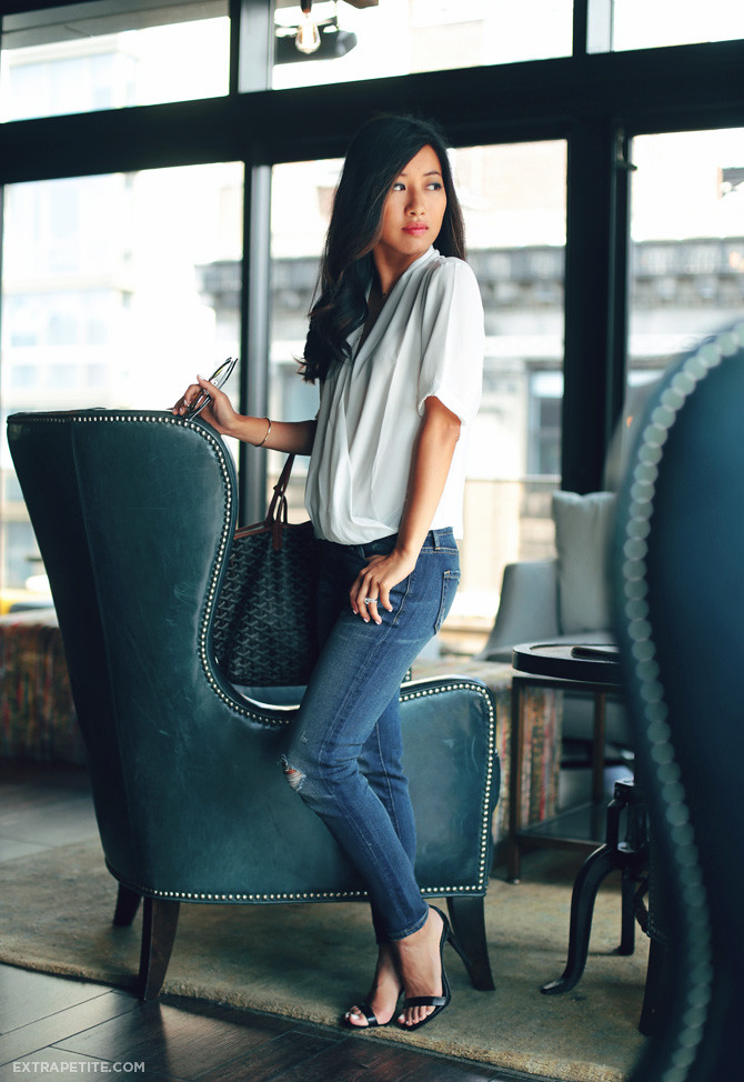 topshop drape blouse ripped jeans3