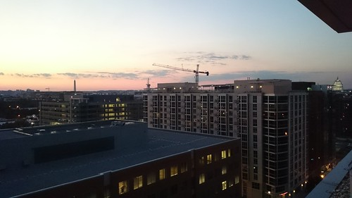 Cranes around Navy Yard, from roof of 100 M SE
