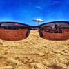 Shaded view - #sky #beach #shore #ocean #sand #sunglasses #blue #bluesky #beachlife #beachday #oceanview #sandy #iphoneonly #iphone #iphonesia