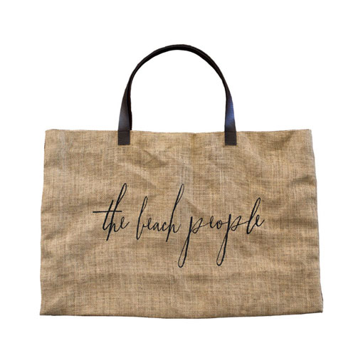 the beach people jute bag