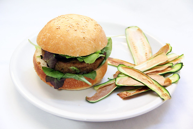Hamburger e Chips di Verdure