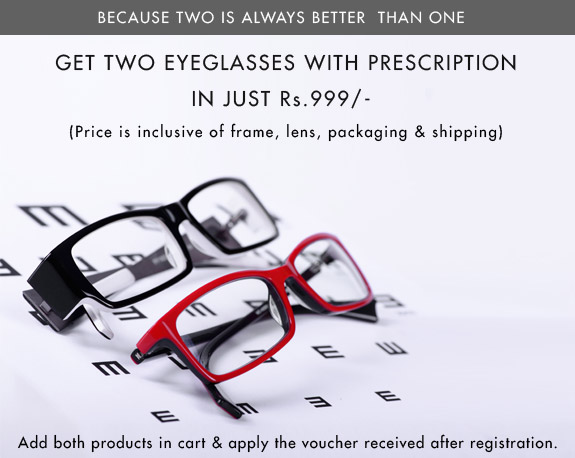 Lenskart Eyeglasses offer Buy 2 at Rs.999