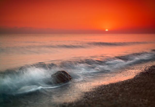 sea, dawn, stone