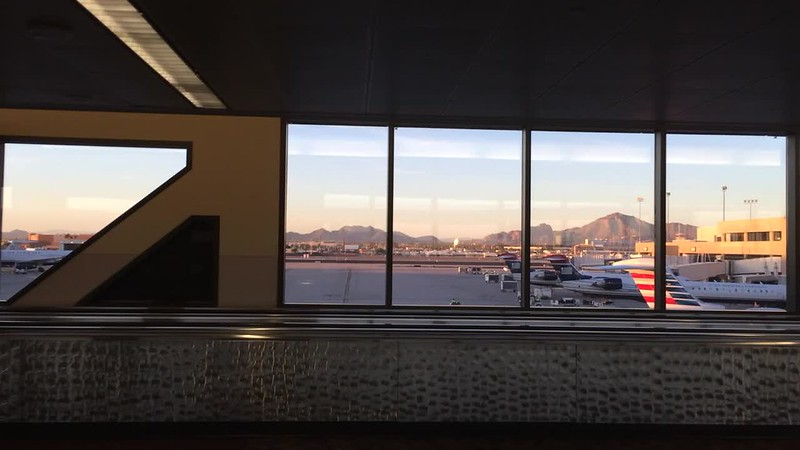 Beautiful Phoenix landscape from the airport.