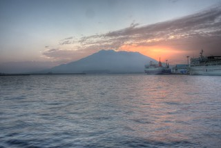 View of Sakurajima in early morning on OCT 24, 2015 (7)