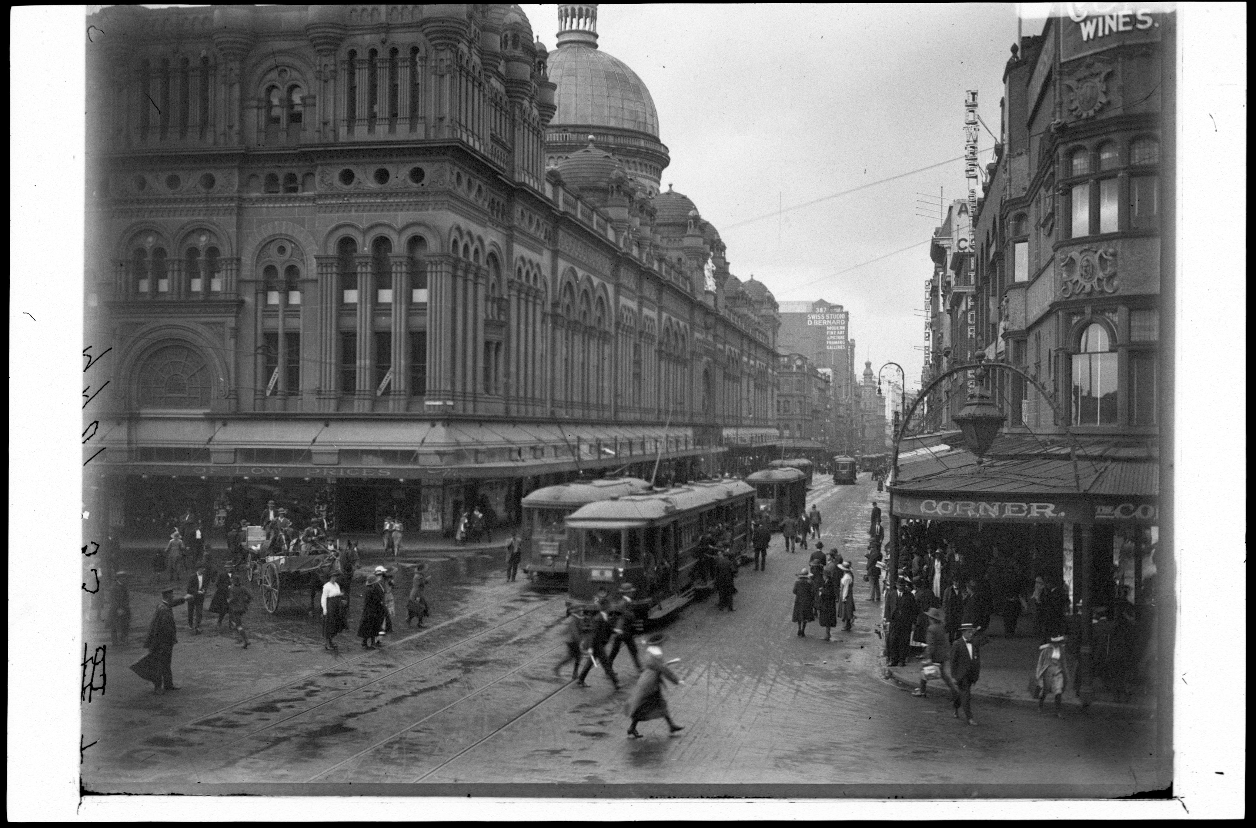 Queen Victoria Buildings, looking down George St, n.d. / unknown photographer